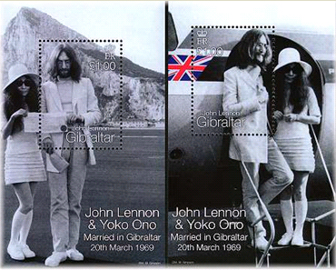 John Lenon & Yoko Ono married in Gibraltar 20th march 1969