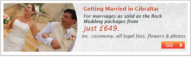 Getting married in Gibraltar